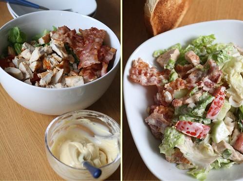 Salade de poulet au bacon & à la mayo