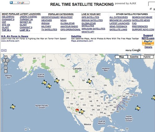 Real Time Satellite and Space Shuttle Tracking