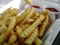 Crinkly Fries (thechubbybunny) Tags: frenchfries potato fries junkfood crinklecut crinkle