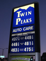 Gas () Tags: sf auto sanfrancisco california road ca city party mountain car sign twilight dusk thecity gas gasstation cash lamppost credit twinpeaks soire posh gasoline care expensive selfserve montaas kalifornien sfist  citycarshare saofrancisco motorvehicle bjerg  vuori   californi autocare  christmastreepointroad