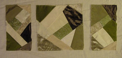 Christmas Crazy Quilt blocks