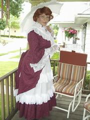 Victorian Laurette, From 2008 (or, Was it 1888?) (Laurette Victoria) Tags: wisconsin vintage costume lace victorian auburn parasol milwaukee laurette laurettevictoria