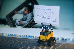 WALL-E (Talal Qatar) Tags: family london love home movie toy star book kid mac flickr hero estrellas pro 17 much miss talal qatar aziz walle