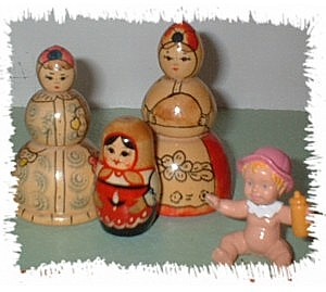 Little wooden dolls.
