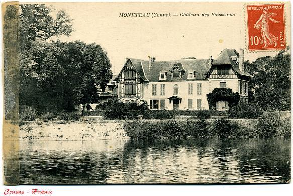 Château des BOISSEAUX - MONETEAU (Yonne)