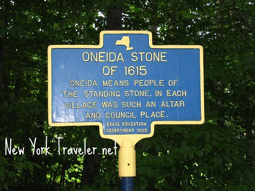 Oneida Stone Altar Historic Marker