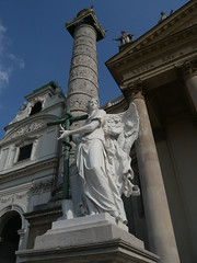 Guardian Angel outside Karlskirche
