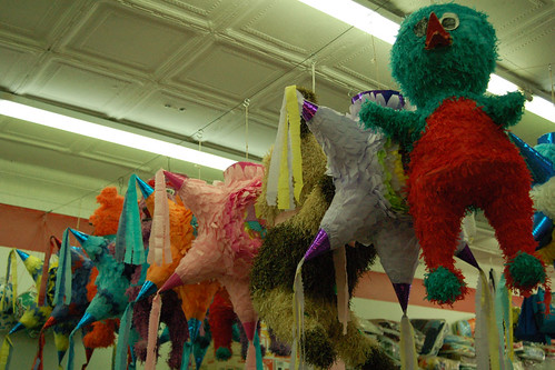 Piñatas at a store in Siler City, North Carolina