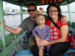 Family portrait on boat