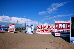 Campaign Sings (avarhirion) Tags: arizona election funny politics az chandler election2008