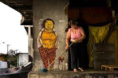 osgemeos at cambuci (Ana Luz) Tags: city brazil woman dog streets building luz graffiti design ana mulher paulo so bairro analuz grafite osgemeos cortio cambuci barraco