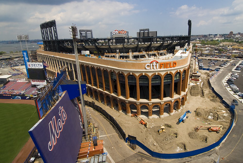 Citi Field and Shea Stadium from the Shea stands