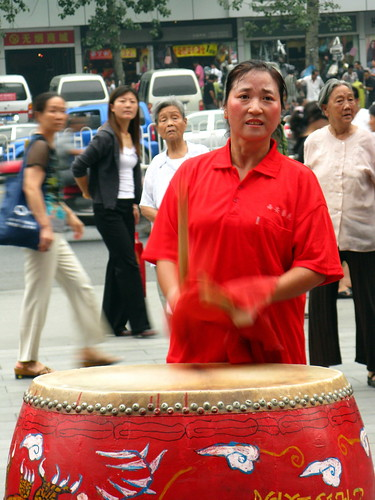 Drummer in Xian, Shaanxi Province, China