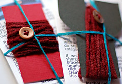 knit bracelet kit - dark red merino