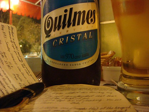 A well-deserved Quilmes. Chilecito, NW Argentina.