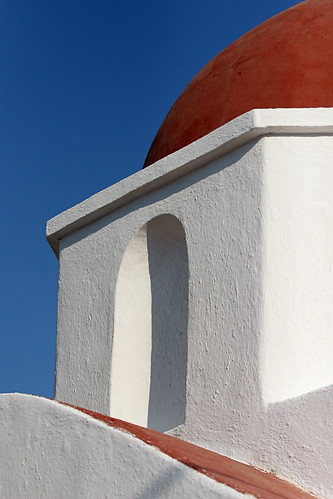 Stucco roof of a Greek church