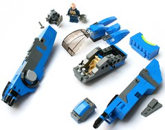 XR-21 20 (Brainbikerider) Tags: lego space instructions spaceship cyberpunk moc starfighter xr21