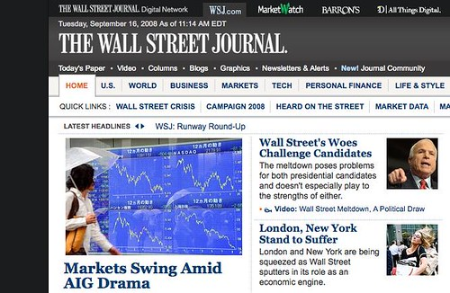 WSJ.com Redesign Gets Darker, Scarier