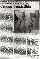Articolo su un giornale francese dedicato al torneo di Vitrolles