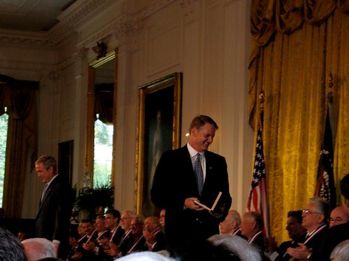 John Donahoe awarded by President George W. Bush