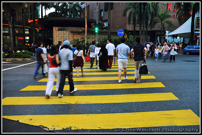 Kuala Lumpur, Malaysia - zebra crossing