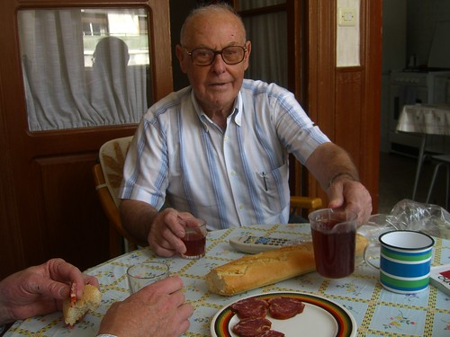 Abuelo pours more wine