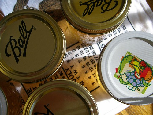 tops of canning jars