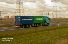 Big rigs (sjoerd_reverda) Tags: netherlands port big rotterdam highway motorway transport autobahn line lorry trucks freight maasvlakte rigs vrachtwagen transporting multimodal apm maersk a15