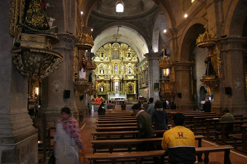 Inside the San Francisco Catedral - La Paz.