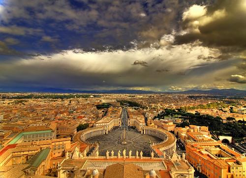 Vistas de Roma, desde la Cúpula de Miguel Ángel