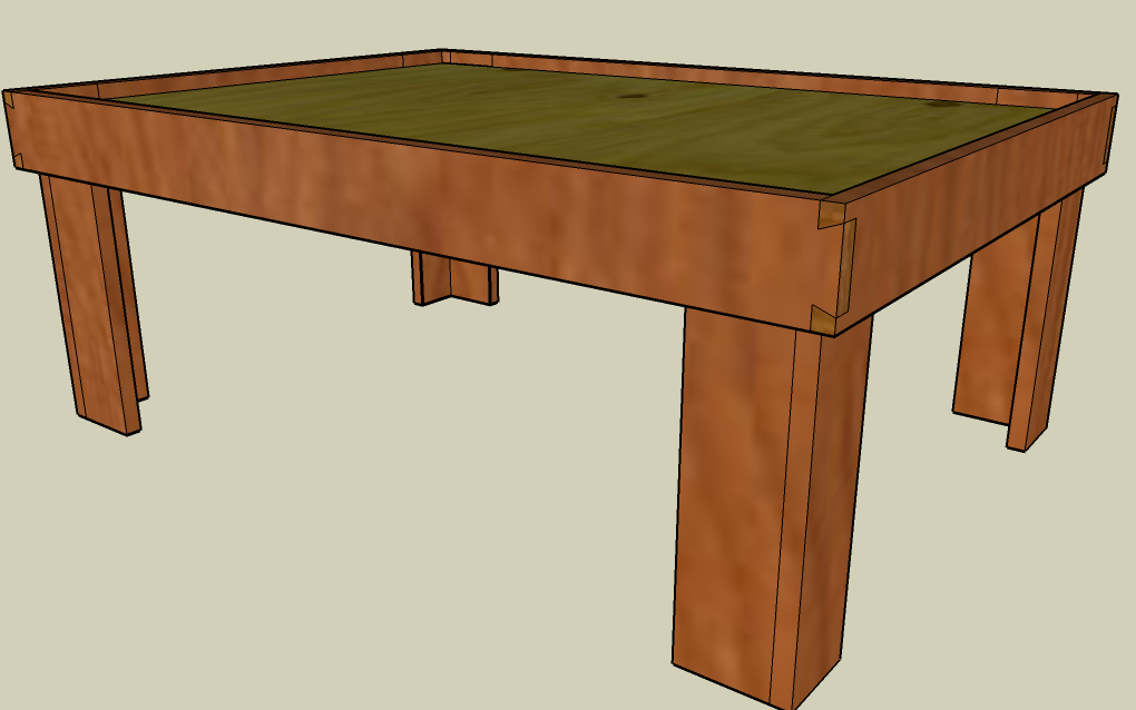 Lego Table - Sketchup Model
