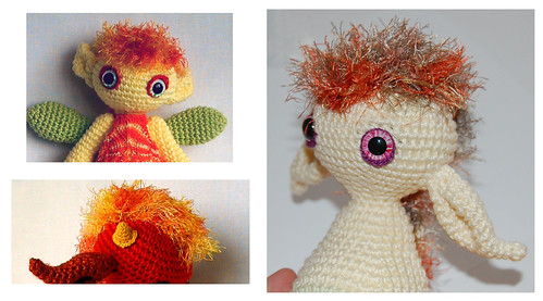 How to Attach Hair to a Crochet Doll - thefriendlyredfox.com | 277x499