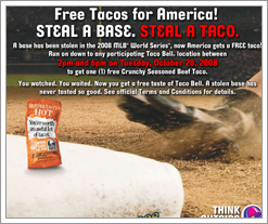 Free Tacos 10/28/2008 from Taco Bell on the Quicken Loans DIFF Blog by whatsthediffblog, on Flickr