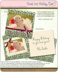 Floral 5x5 Holiday Card