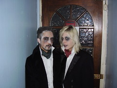 Matt and Malin get dead (the_dan) Tags: halloween matt dead makeup corpse zombies whiteface blackeyes malin