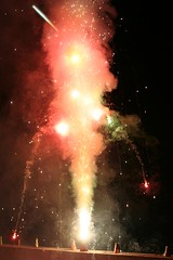Multi-coloured anar dropping lights