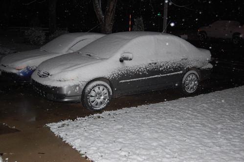 snowy cars!
