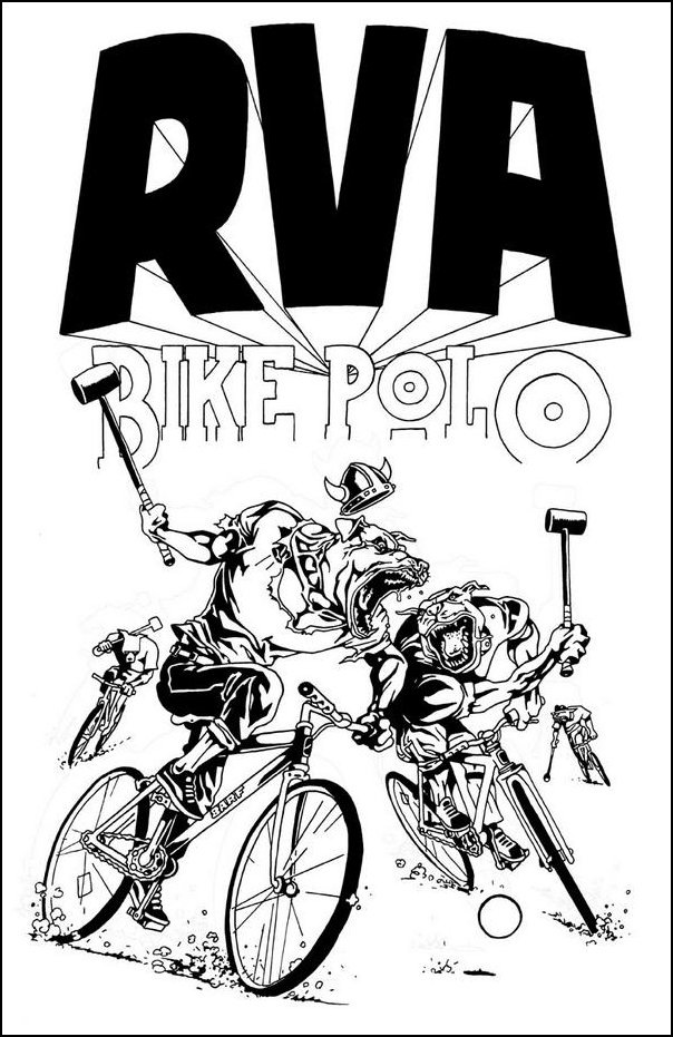 RVA bike polo Barf dogs art