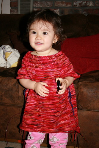 Oct 2008 - Trying on mama's sweater