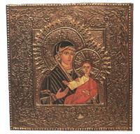 Virgen у ниобия (topaztienda) Tags: Iconos repujado metales