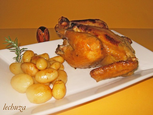 Pollo con miel-fuente