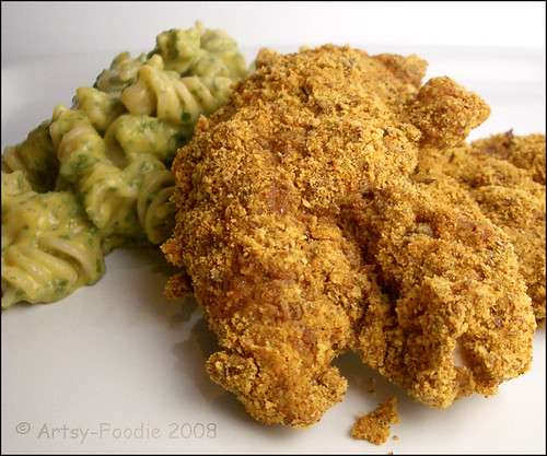 chicken strips with pasta