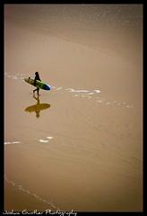 Lonley Surfer (Joshua Gunther) Tags: france photography nikon joshua surfer surfing surfboard southoffrance biarritz gunther d80 nikond80 frenchsurfing