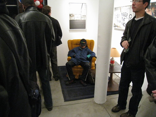 Zoe Strauss' Siverstein show 2008 - sleeping guy