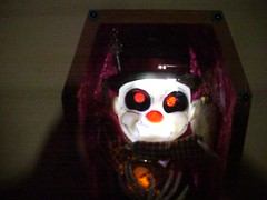 """Phineas the Tramp"" (detail) (Devlin Thompson) Tags: dayofthedead skeleton skull clown casket corpse coffin hobo tramp calavera diadelosmuertosallsaintsdaysculpturemixedmedia"