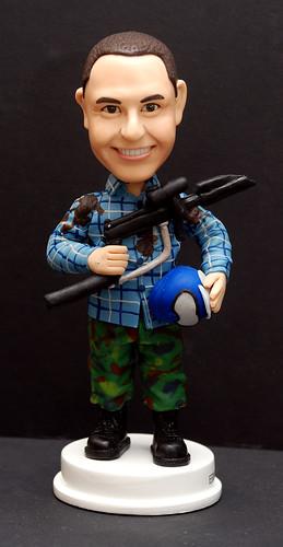 fully customised 3D caricature figurine angle 1