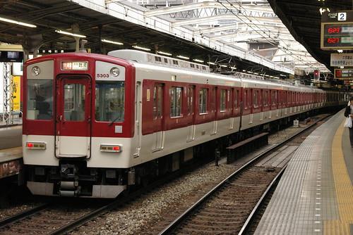 Kintetsu5800series in Tsuruhashi,Osaka,Osaka,Japan 2008/11/29