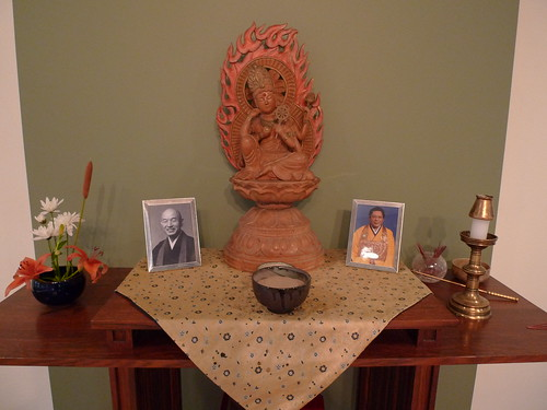 Closeup of Altar at Kanzeon Zen Center