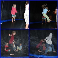 Night jumping (on the trampoline)