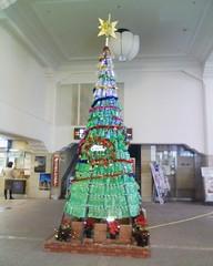 ペットボトルのクリスマスツリー